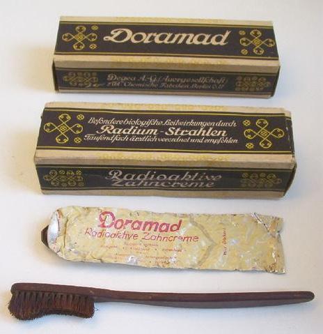 Pasta dentífrica radiactiva
