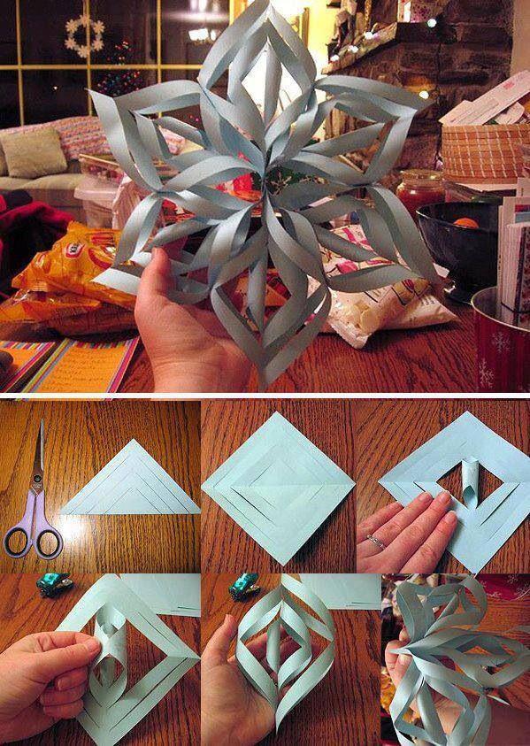 Cómo hacer una estrella de Navidad con papel